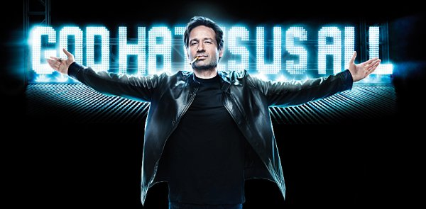 David duchovny plays swinger hank moody on showtime s druggy comedy