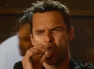 Jake Johnson Smokes a Joint in 'Let's Be Cops'