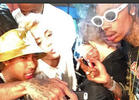 Miley, Wiz Smoke Joint at Chelsea Handler's Send-Off