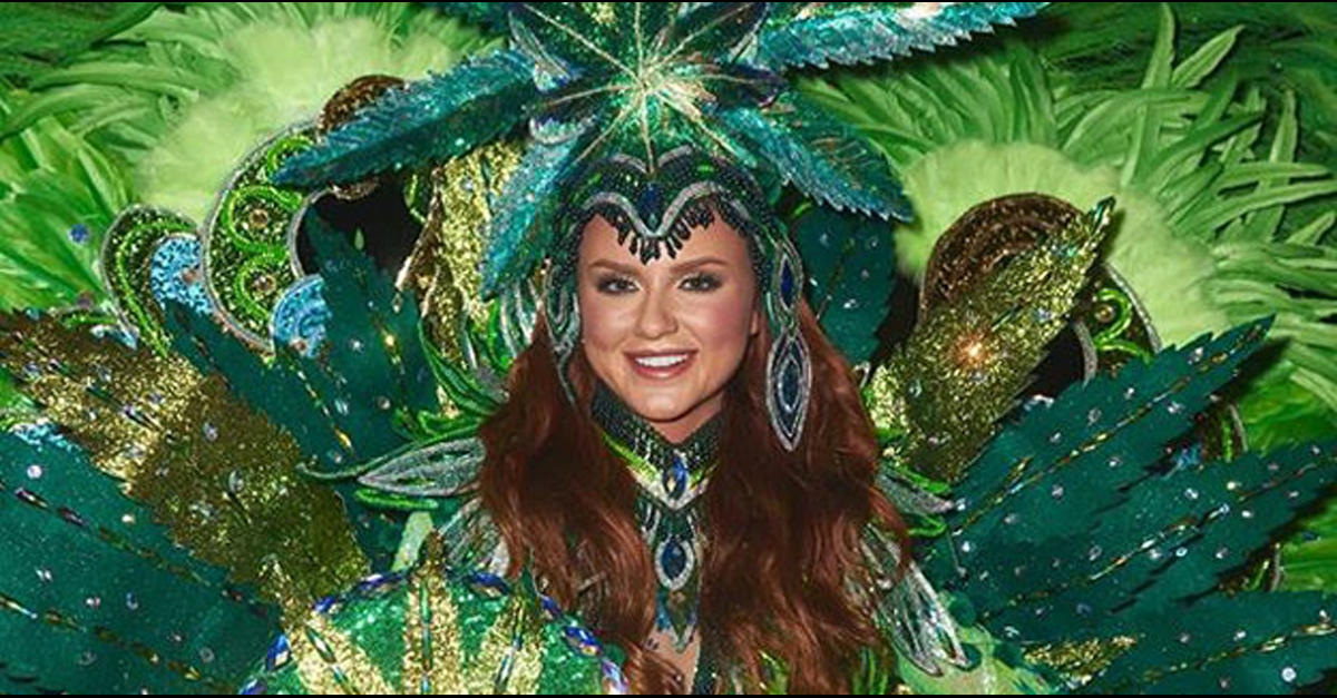 photo of Canada's Miss Universe Contestant Dons Marijuana Outfit image