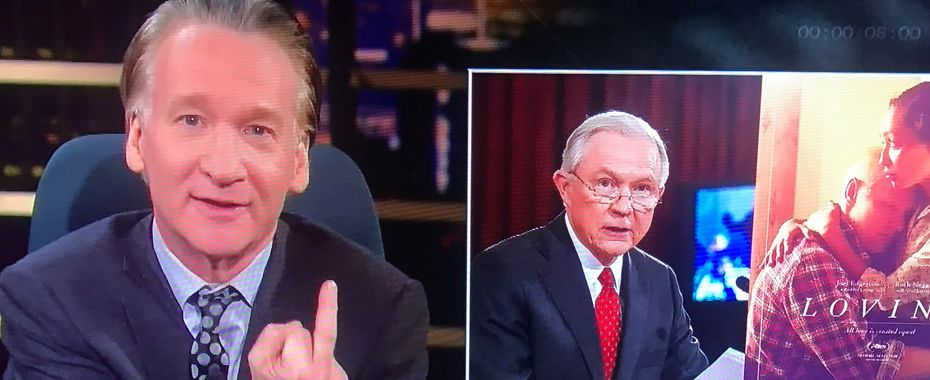 Bill Maher Gives Jeff Sessions the Finger on 'Real Time'