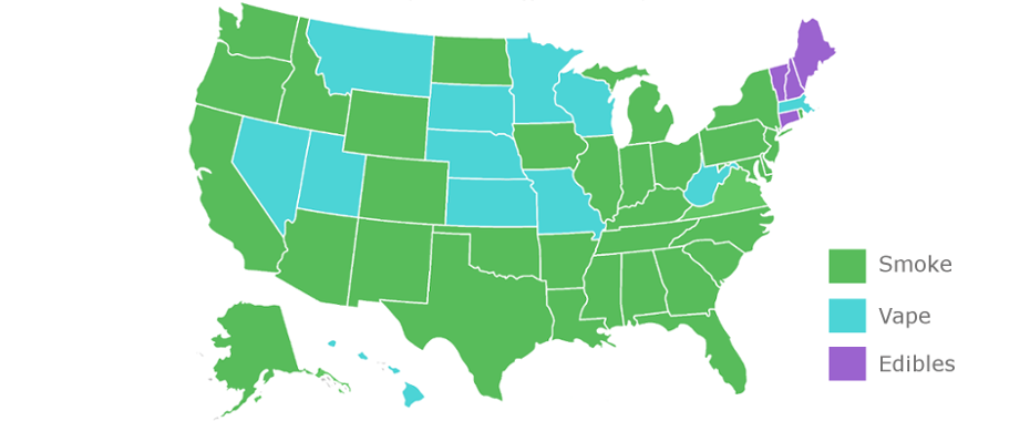 Is Your State More Into Smoking, Vaping or Edibles?