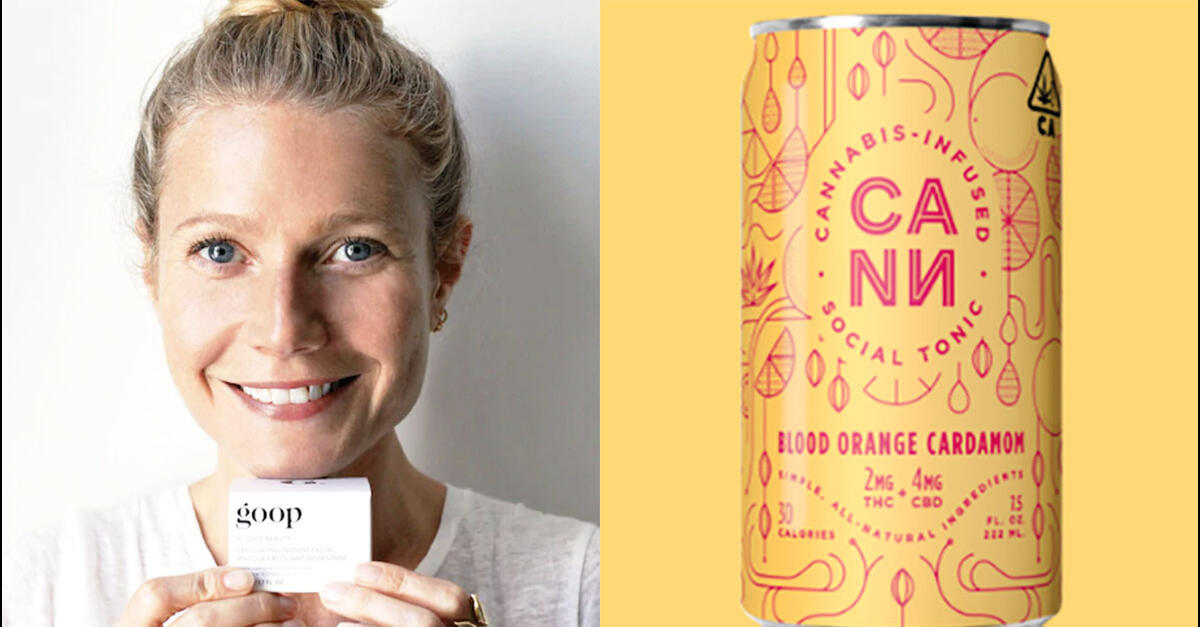 photo of Gwyneth Paltrow Celebs Invest Cann Soda Brand image