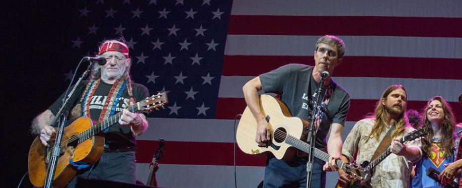 Willie Nelson Performs at Rally for Beto O'Rourke, Debuts 'Vote 'Em Out'