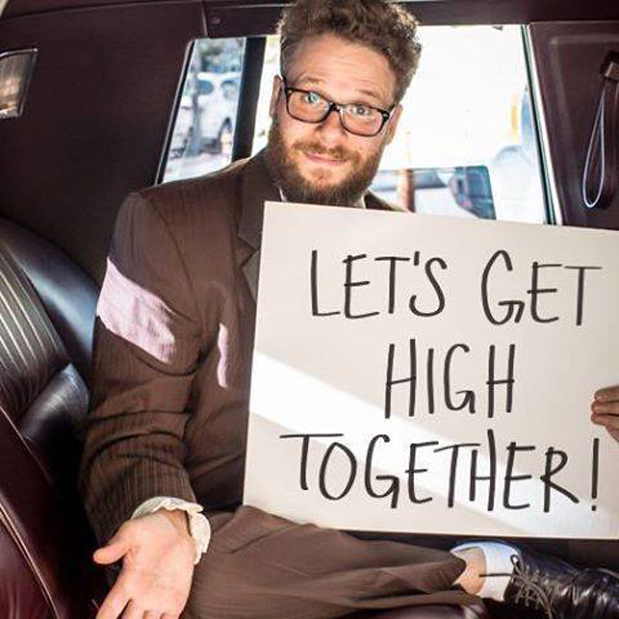 Image result for seth rogen smoke weed